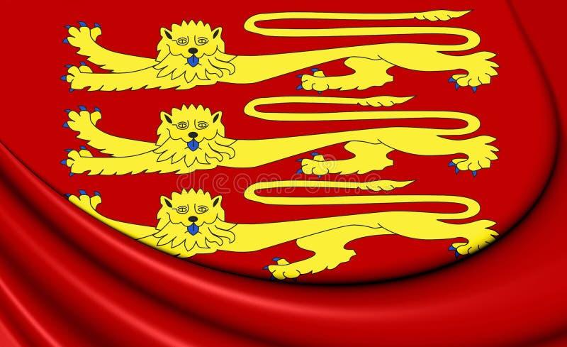 3D Royal Standard of England. 3D Illustration vector illustration