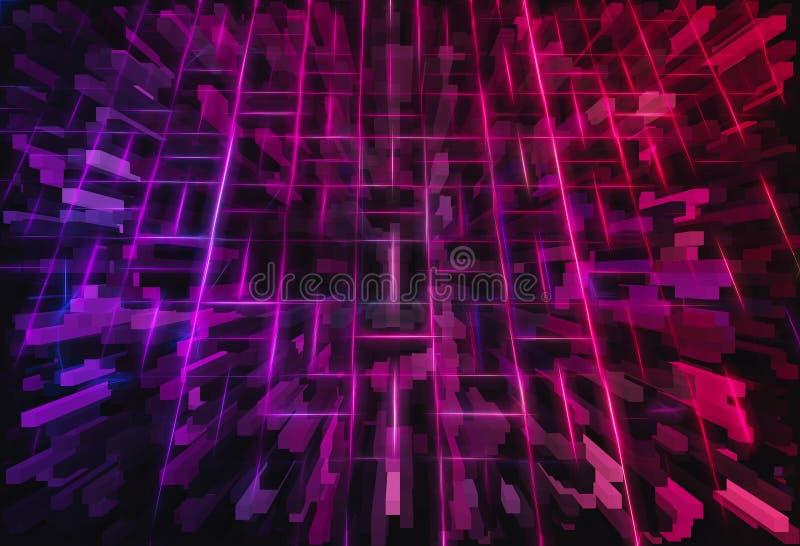 3d roze en purpere achtergrond van de kubussenillustratie stock illustratie