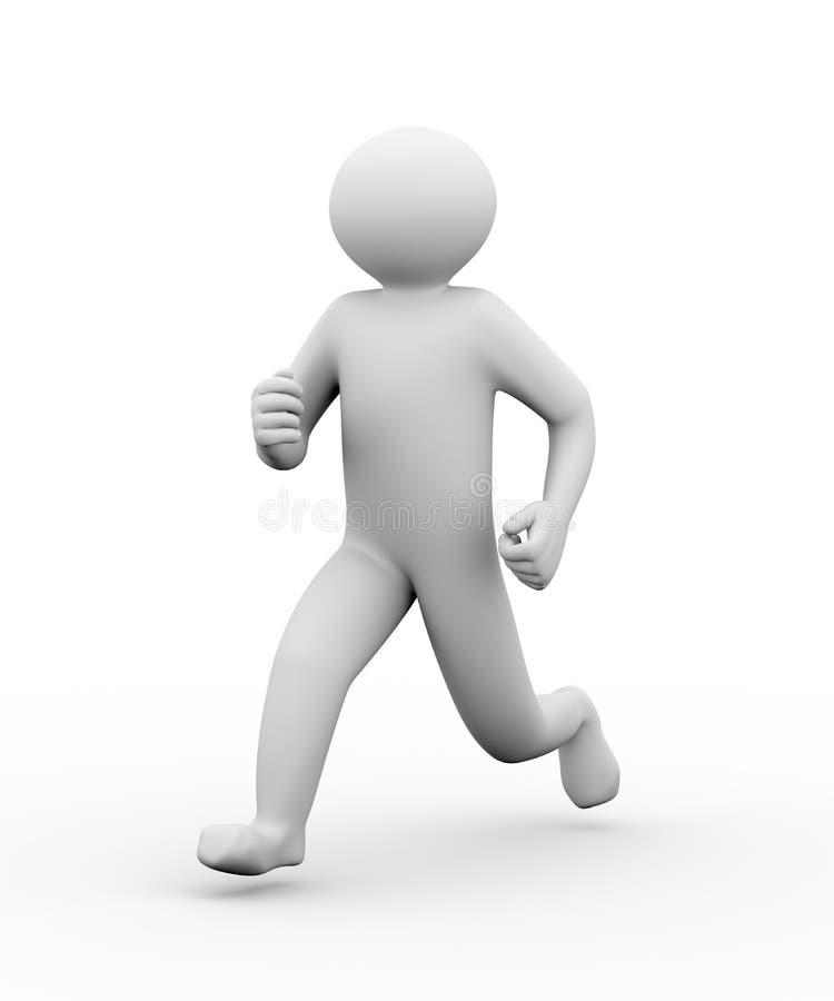 3d running person stock illustration