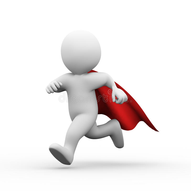 3d running super hero superman in a raincoat stock superhero clipart free for teachers superhero clip art free no face