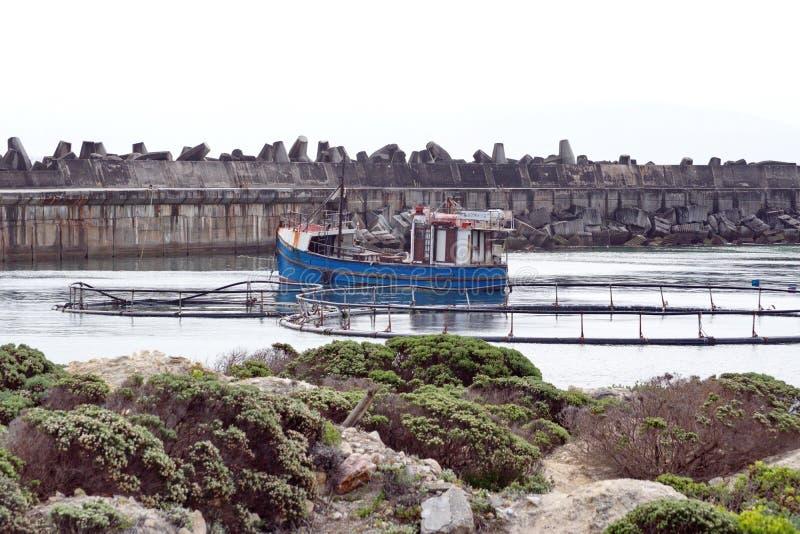 ??d? rybacka w schronieniu fotografia royalty free