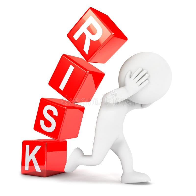 3d ryzyka biali ludzie ilustracja wektor