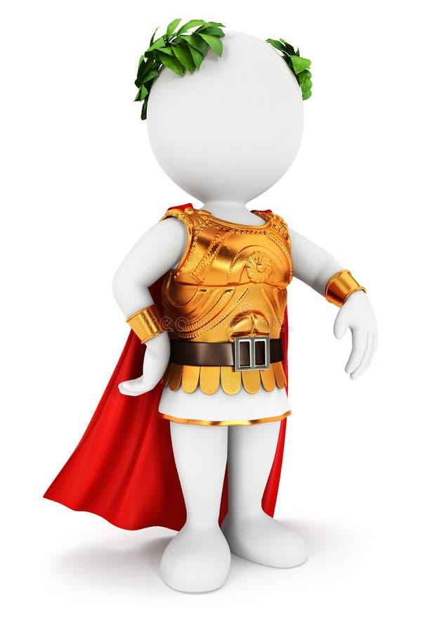 3d rzymskiego cesarza biali ludzie royalty ilustracja