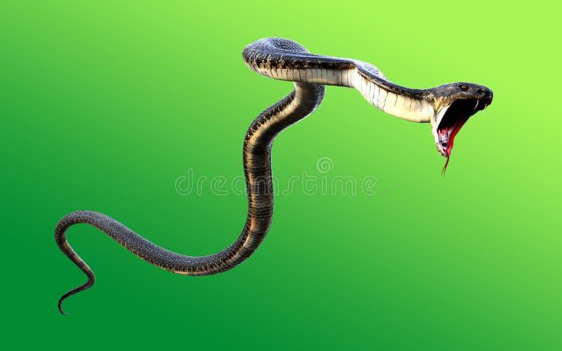 3d ` s del mondo di re Cobra The il più lungamente illustrazione vettoriale