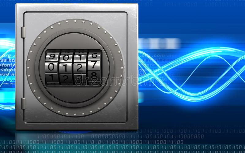 3d safe code dial stock illustration