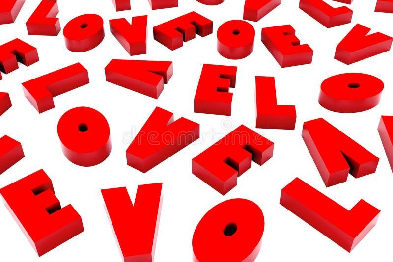 3d saint Valentine Love Background illustration libre de droits