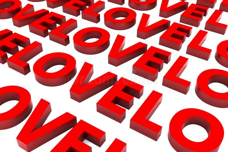3d Saint Valentine Love Background stock image