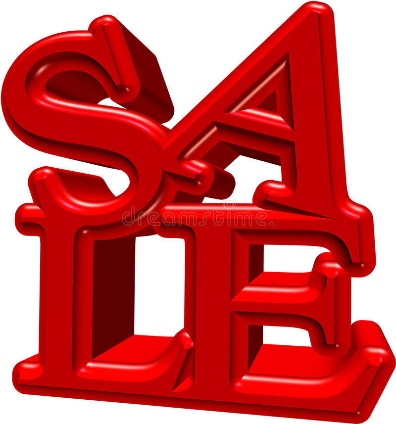 3D Sale royalty free stock image