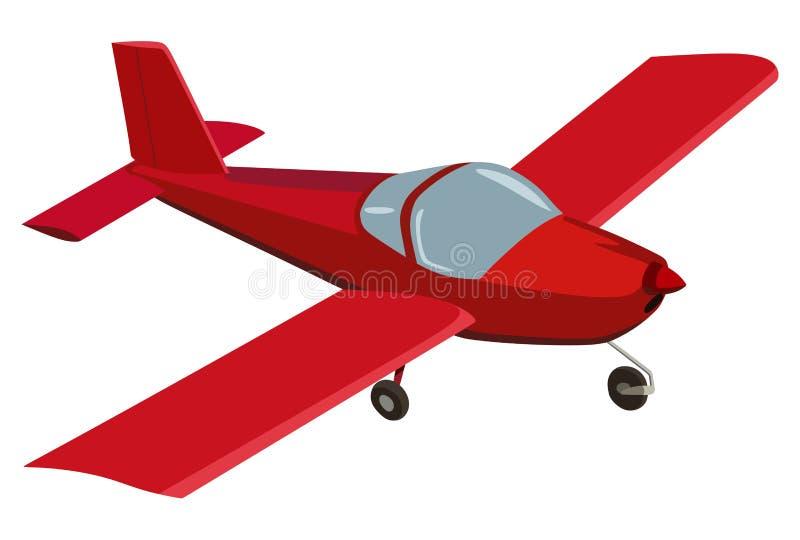 3d samolotowy czerwony biel royalty ilustracja
