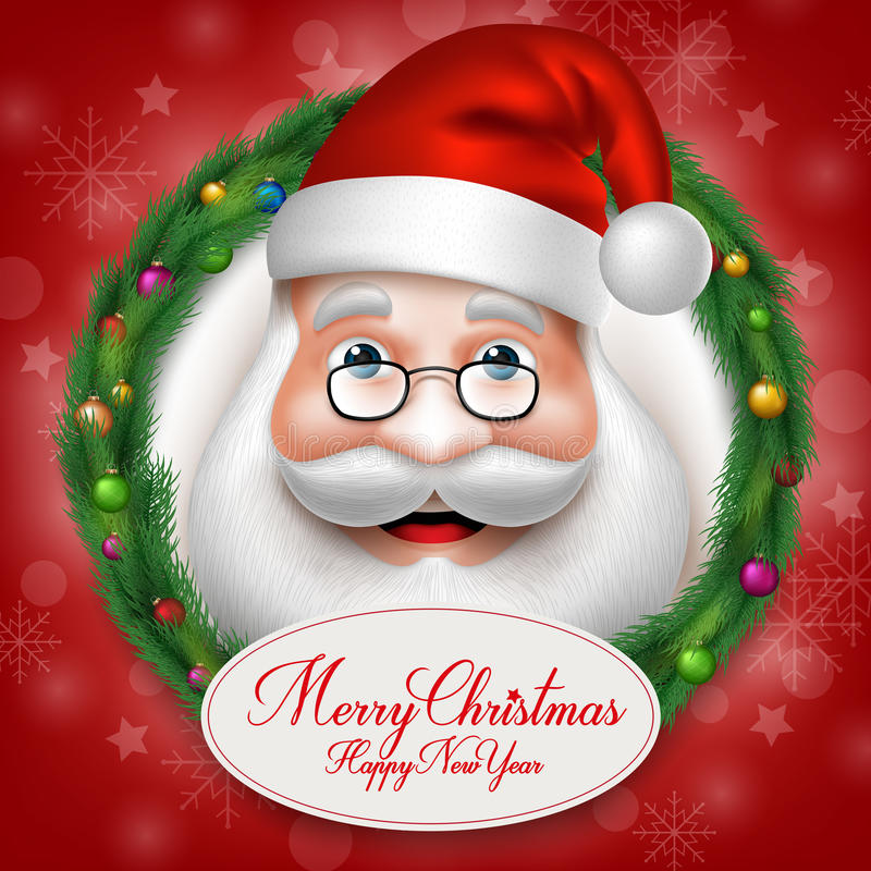3D Santa Claus Head Character Inside Christmas realistica royalty illustrazione gratis