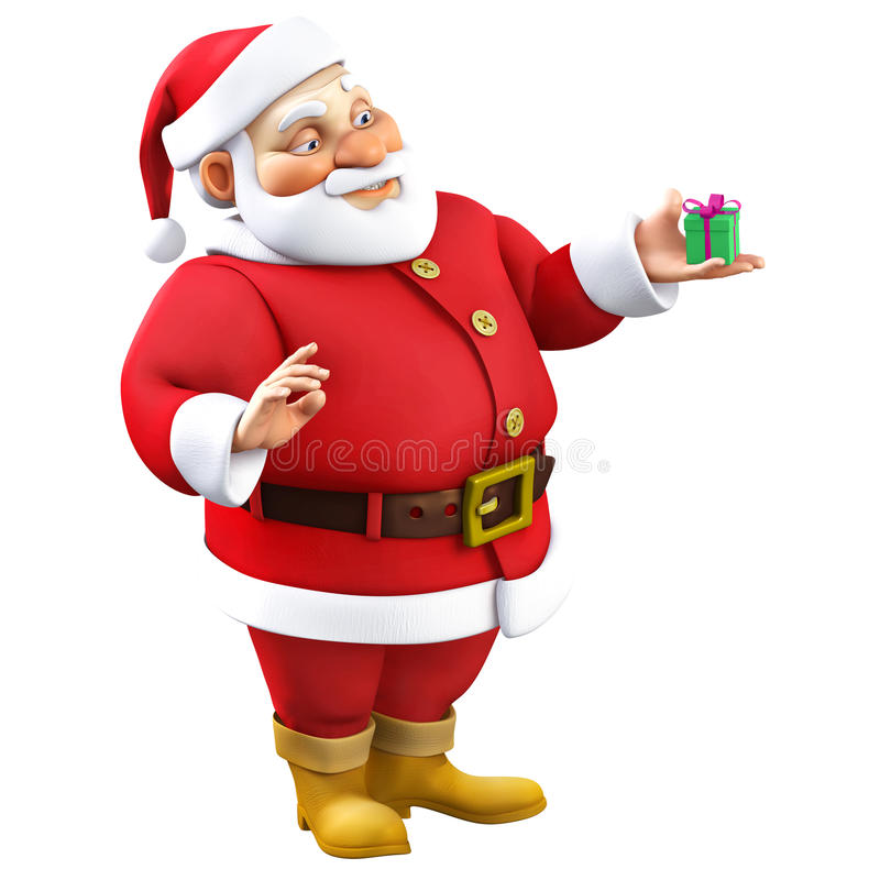 3d Santa Claus kreskówka ilustracja wektor