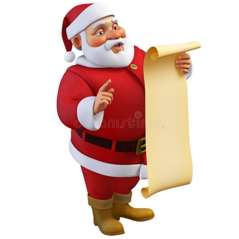 3d Santa Claus kreskówka ilustracji