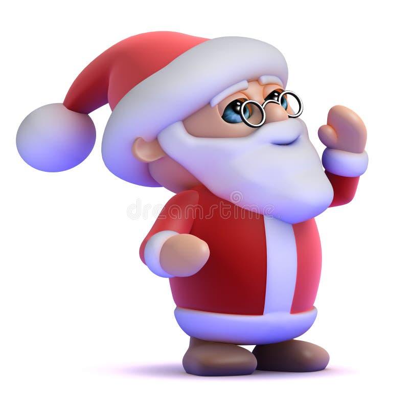 3d Santa hurle  illustration de vecteur