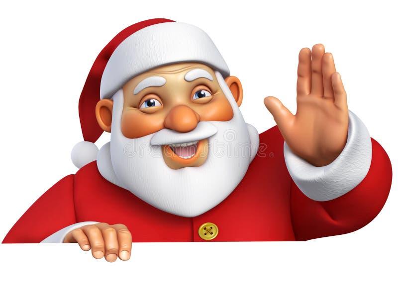 3d Santa kreskówka ilustracja wektor