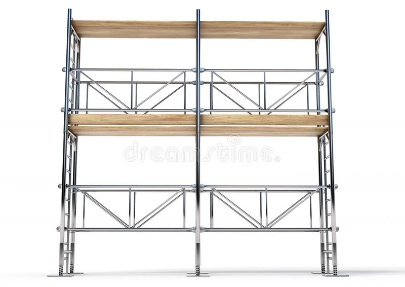 3D Scaffold royalty free stock photography