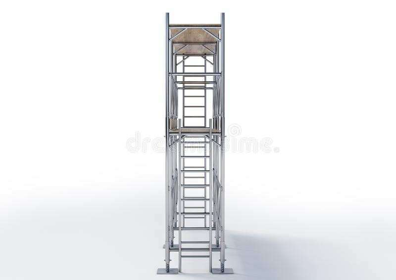 3D Scaffold stock photography