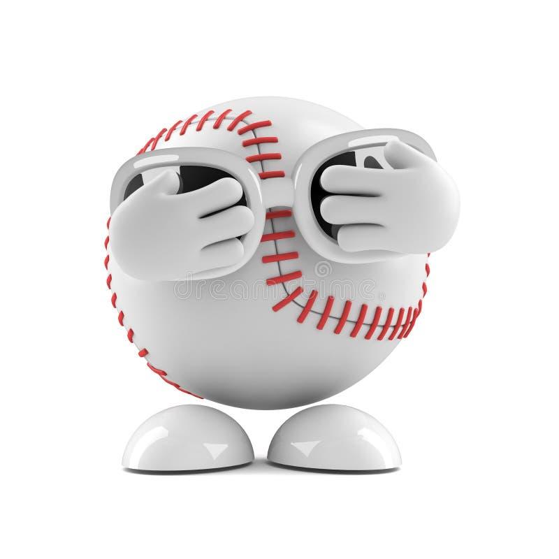 3d Scared baseball stock photo