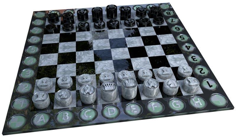 3d schaakspel vector illustratie