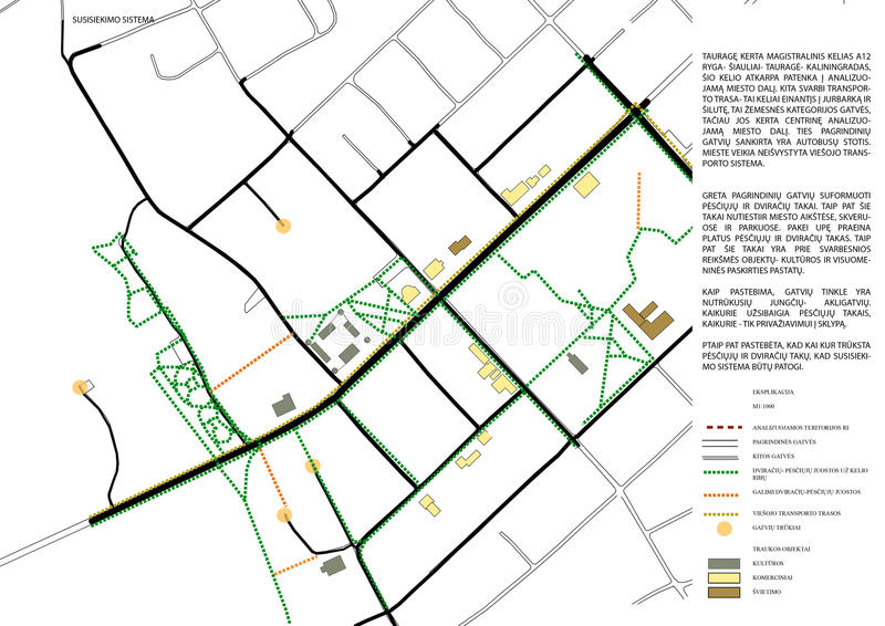2d schema della mappa della città illustrazione vettoriale