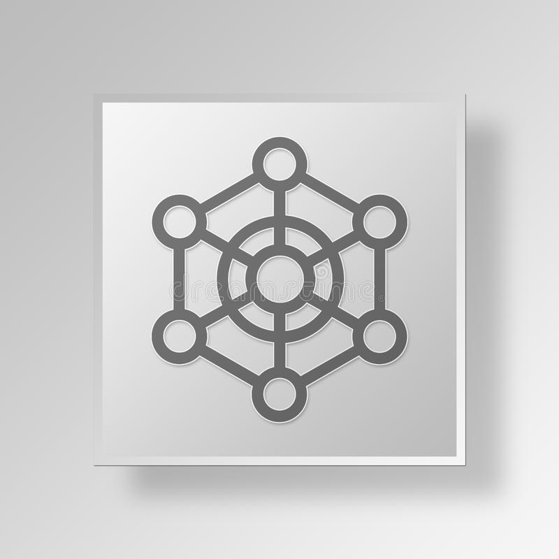3D scheme icon Business Concept royalty free illustration