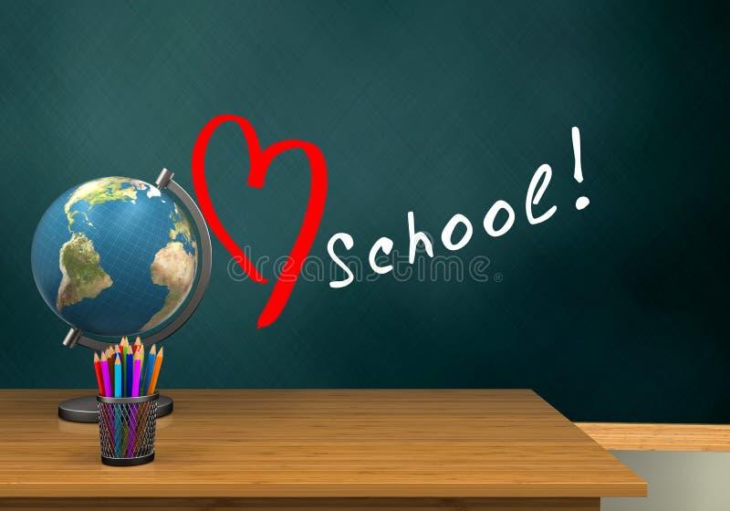 3d schoolboard 向量例证