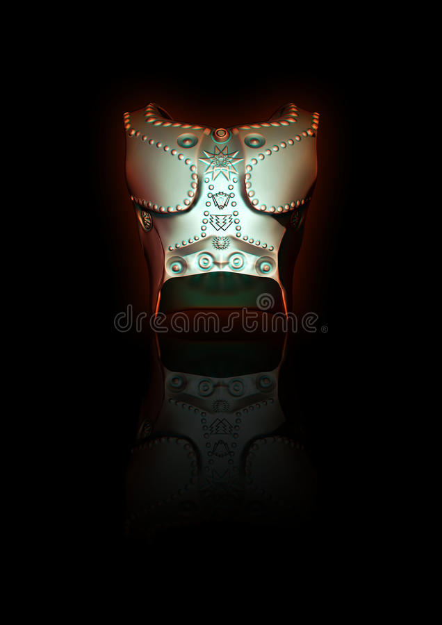 3D Sculpt Gladiatorrüstung stockbilder