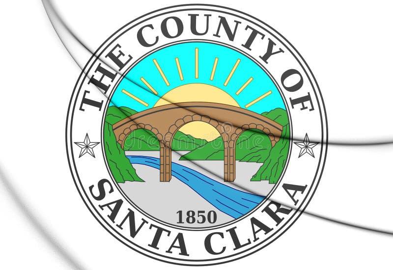 3D Seal of Santa Clara County California, USA. 3D Illustration stock illustration