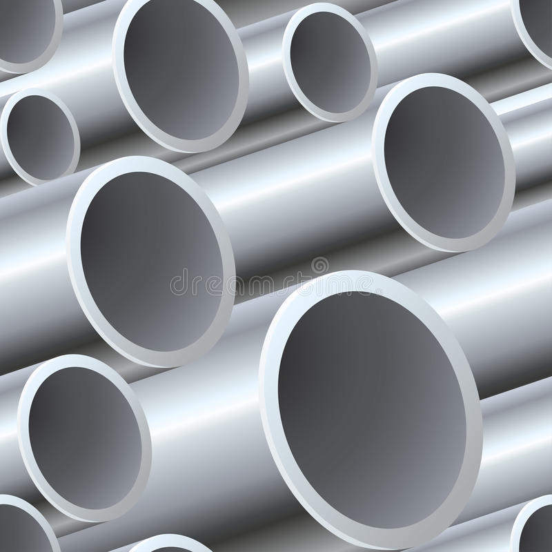 3D seamless steel pipes pattern royalty free illustration