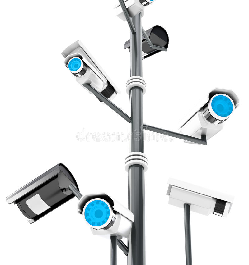 Download 3d Security Cameras Surveillance Concept Stock Illustration - Image: 30196777