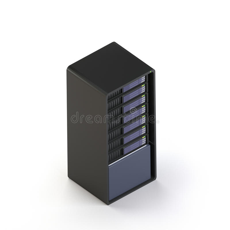 3d server render isometric royalty free illustration