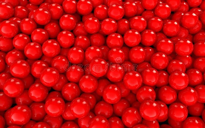 3d sfer czerwony tło ilustracji
