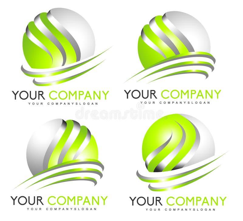 3D sfery logo ilustracja wektor