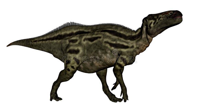 3D Shantungosaurusdinosaurus - geef terug royalty-vrije illustratie