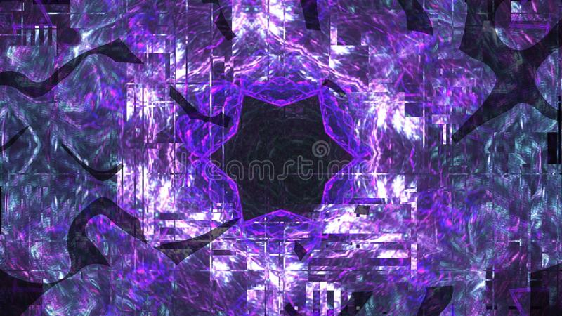 3d shape with fractal regularity, abstract computer technology background, 3d render, computer generated. 3d shape with fractal regularity, abstract computer royalty free stock photos