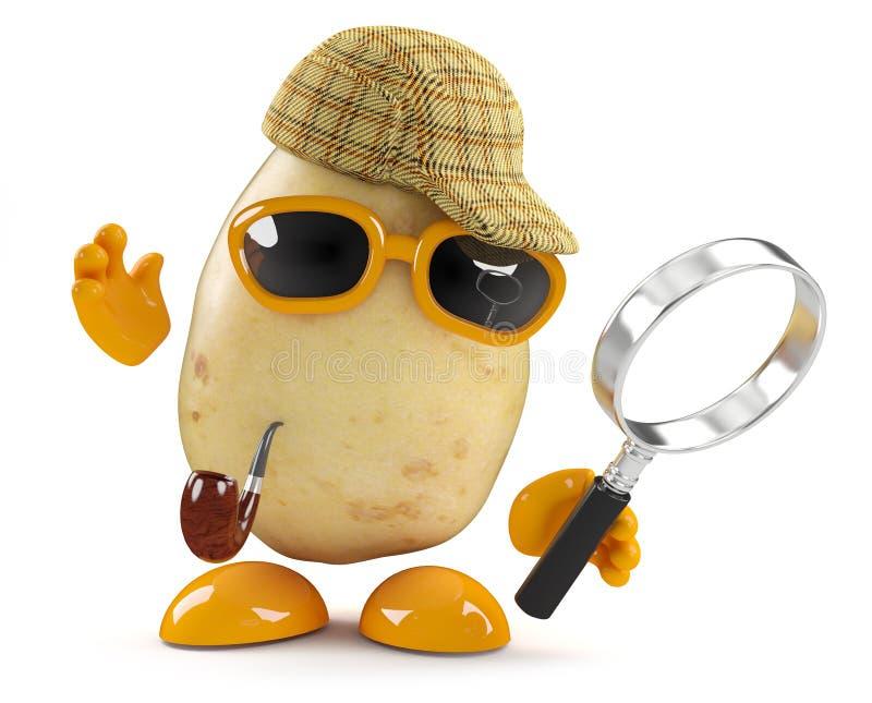 3d Sherlock土豆 库存例证
