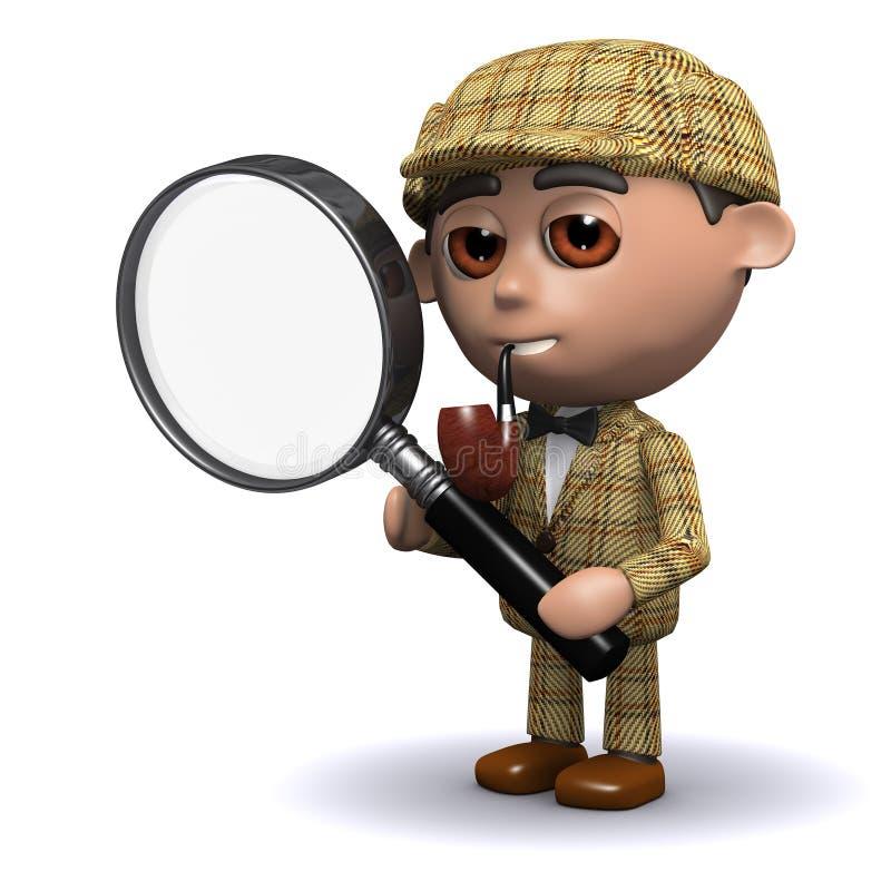 3d Sherlock扩大化 库存例证