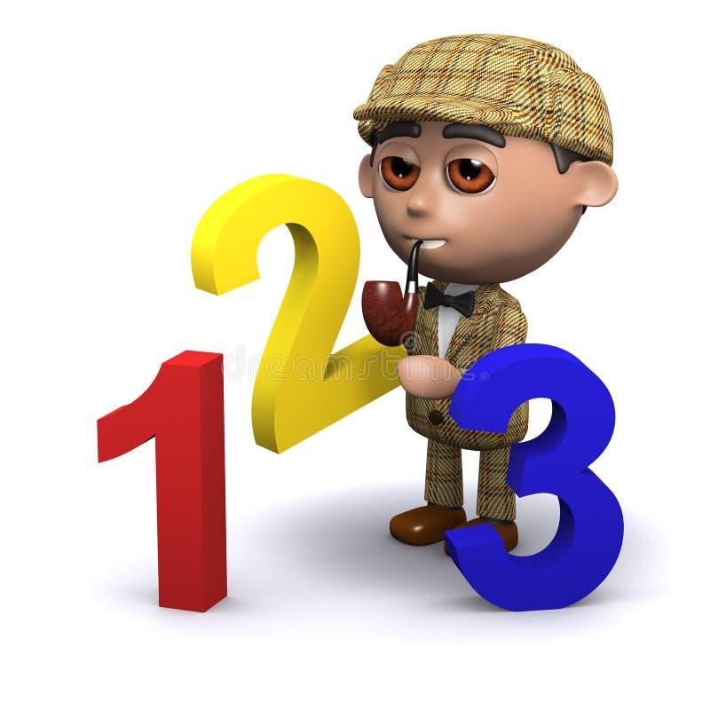 3d Sherlock算术教训 库存例证