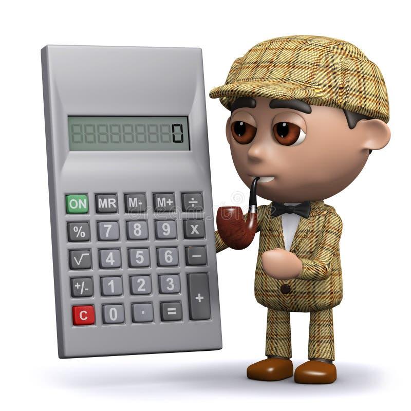 3d Sherlock计算 向量例证