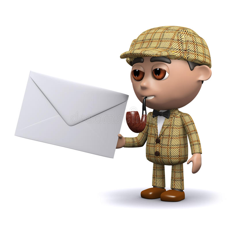 3d Sherlock邮件 皇族释放例证