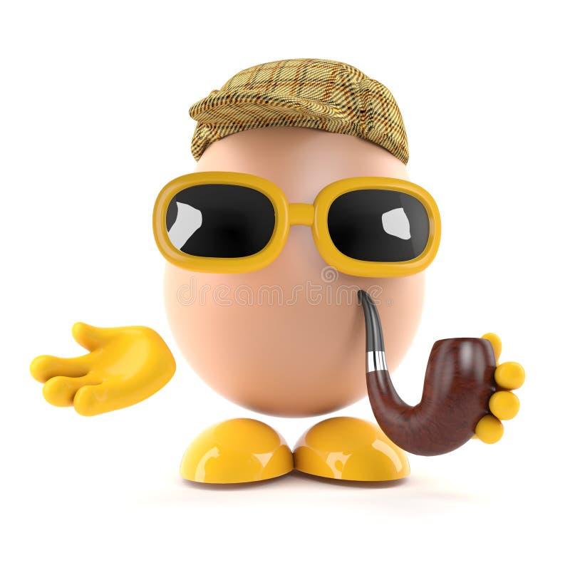 3d Sherlock鸡蛋 皇族释放例证
