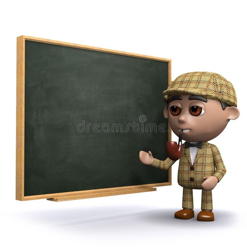 3d Sherlock黑板 皇族释放例证