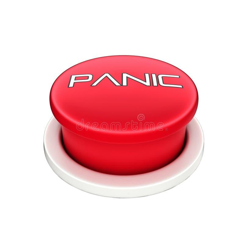 3d shinny e botão de pânico vermelho lustroso imagens de stock