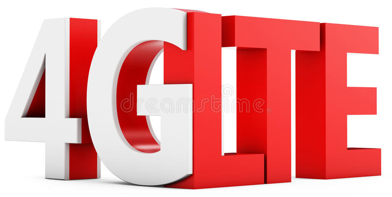 3d sign of 4g lte broadband stock image - image: 32180191