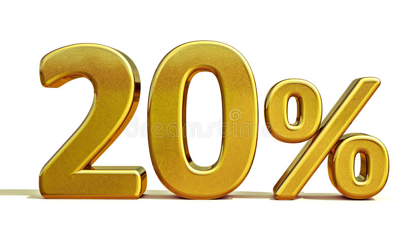 3d or 20 signe de remise de vingt pour cent photos stock