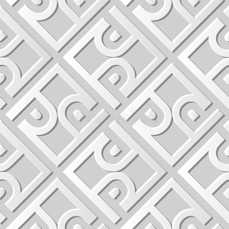 3D skyler över brister för ramspiralen för konst 561 arg geometri för kontrollen vektor illustrationer