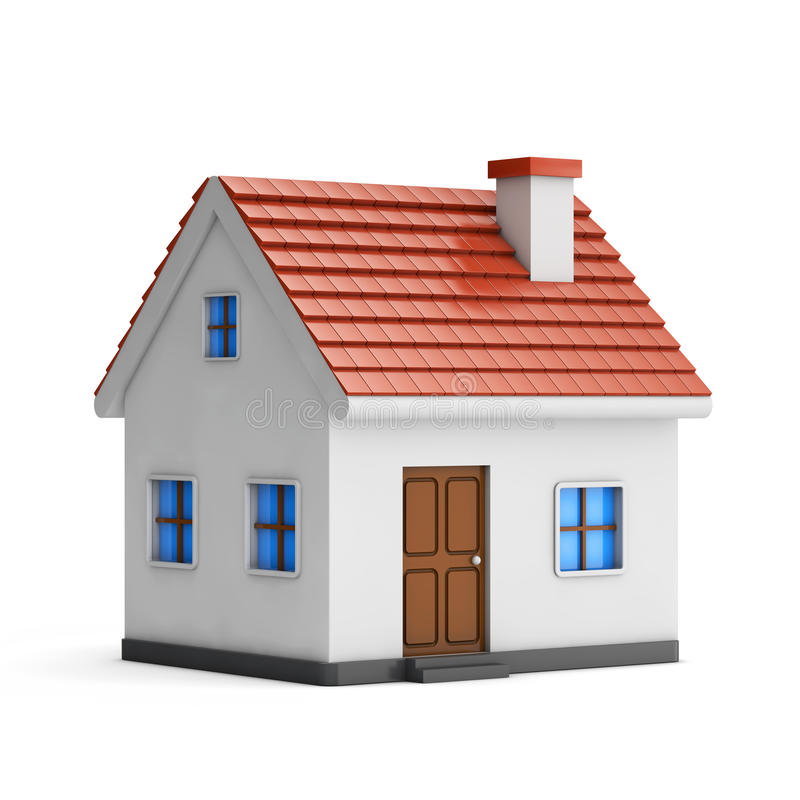 3d small house stock illustration