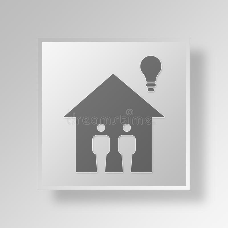 3D Small Inventor icon Business Concept vector illustration