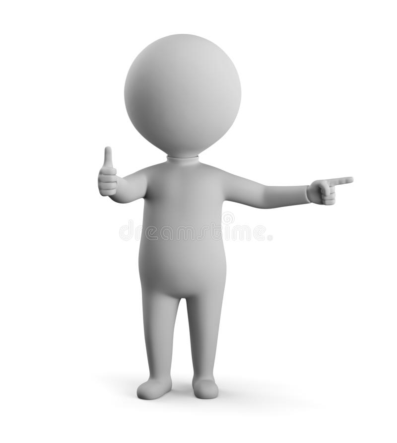 3D small man - thats cool royalty free illustration