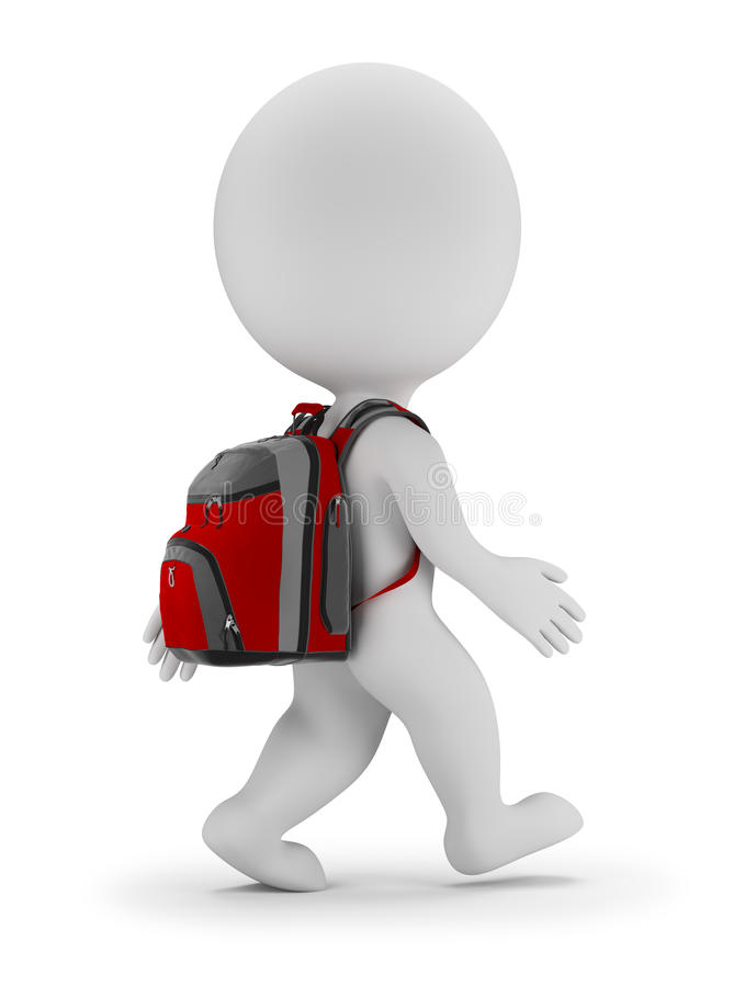 Download 3d Small People - Back To School Stock Illustration - Illustration: 74722250