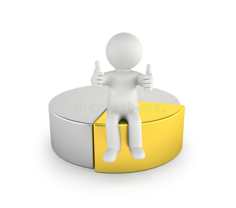 3d small people - best part stock illustration